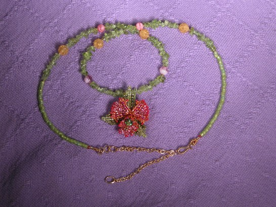 Orchid necklace