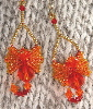 Fire mini-dragon earrings